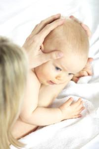 baby kopfmassage